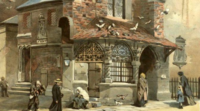 Zabytki Krakowa – zakątek przy kościele św. Barbary