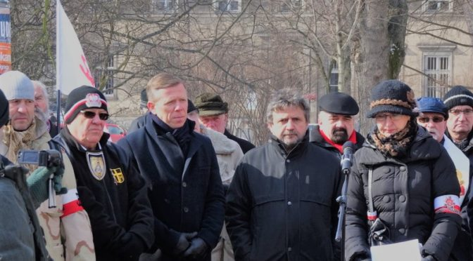 Uroczystości Narodowego Dnia Pamięci Żołnierzy Wyklętych 1 marca 2018 r. na Placu Inwalidów w Krakowie